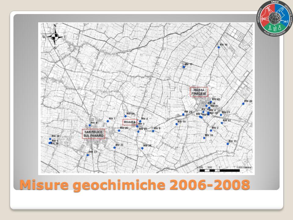 Misure geochimiche 2006-2008