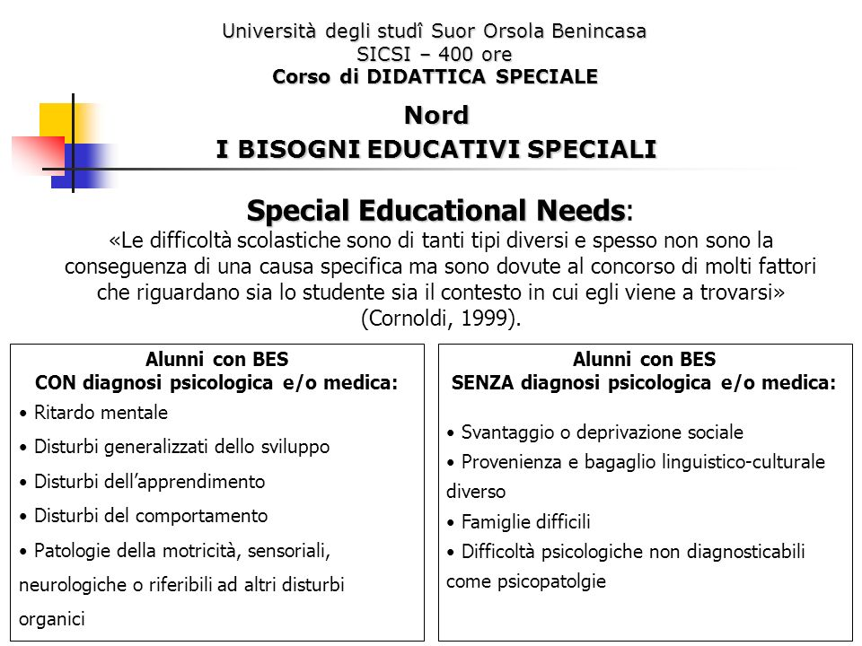 Special Educational Needs: