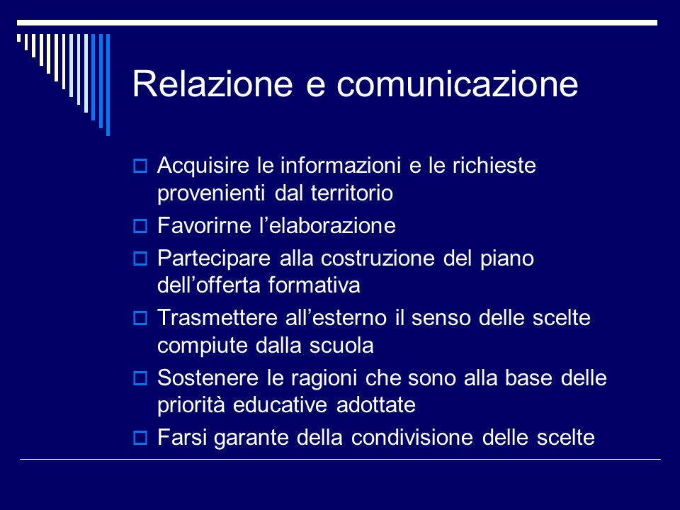 Relazione e comunicazione