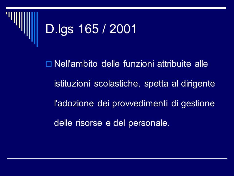 D.lgs 165 / 2001