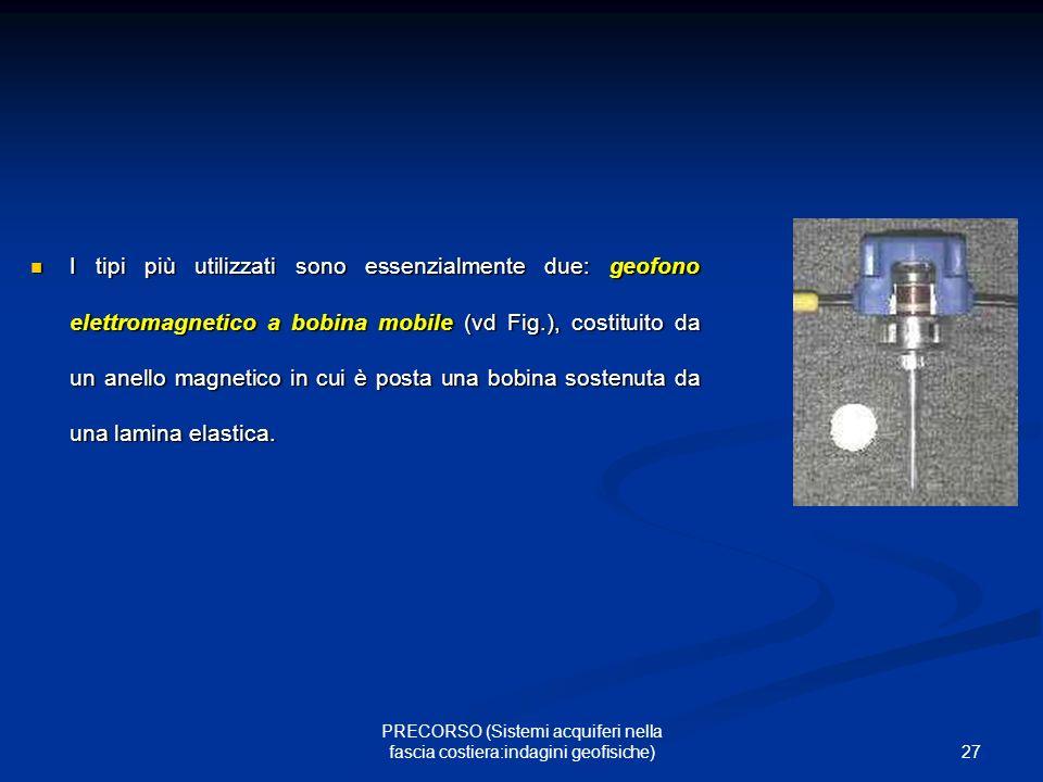 PRECORSO (Sistemi acquiferi nella fascia costiera:indagini geofisiche)