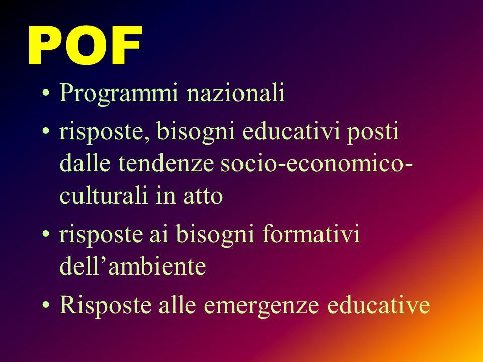 POF Programmi nazionali