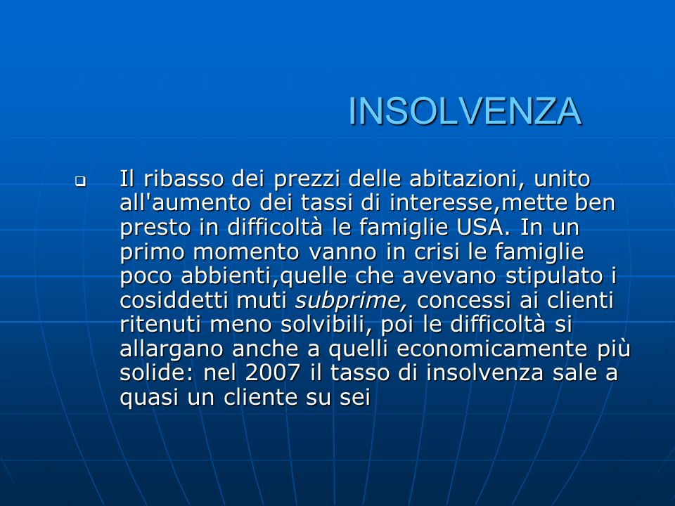 INSOLVENZA
