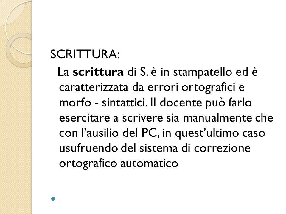 SCRITTURA: