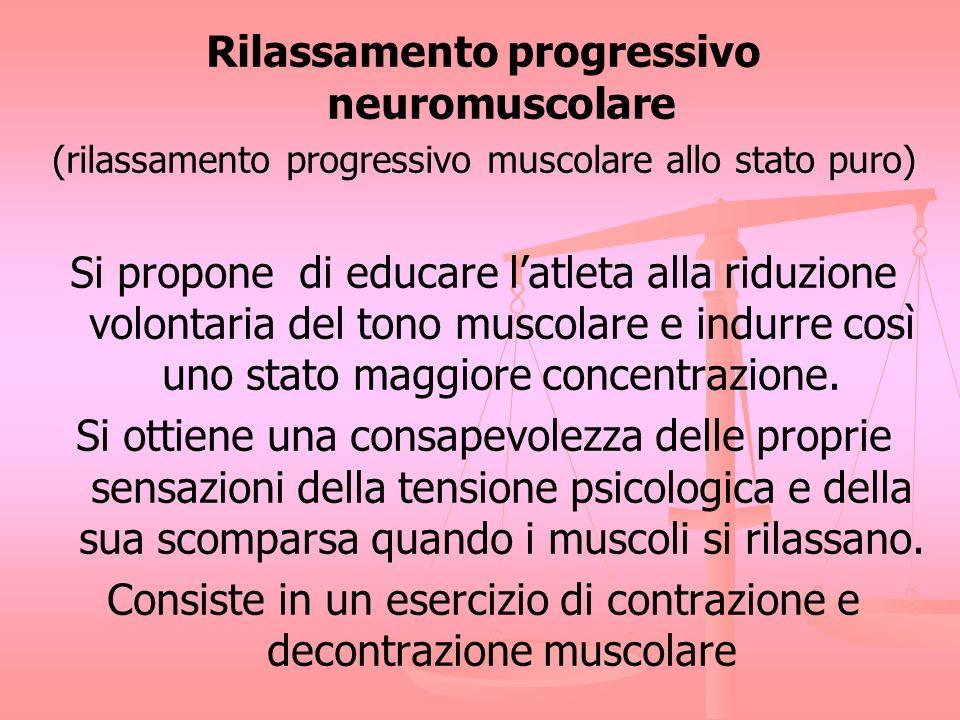 Rilassamento progressivo neuromuscolare