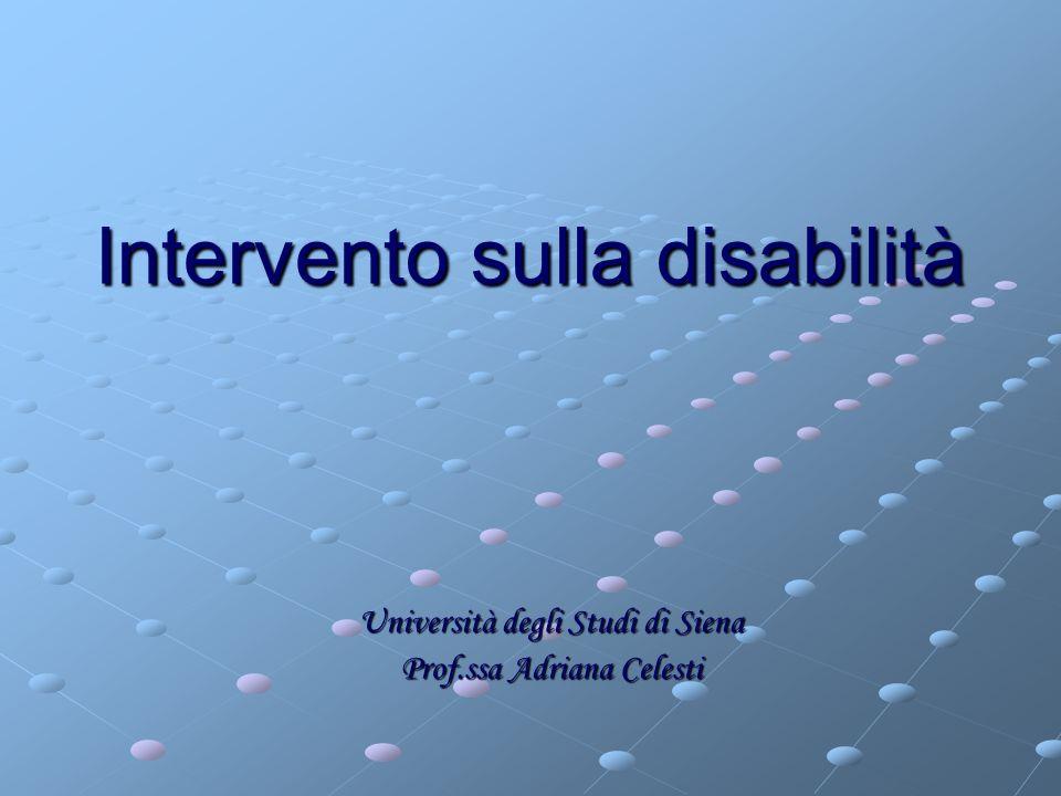 Intervento sulla disabilità