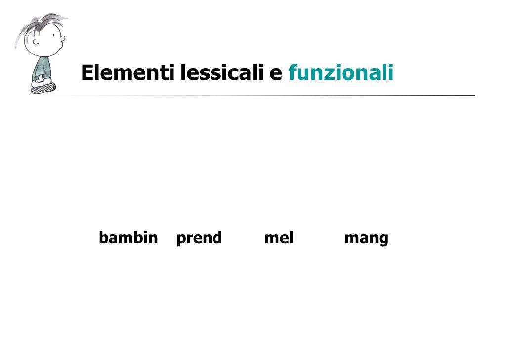Elementi lessicali e funzionali