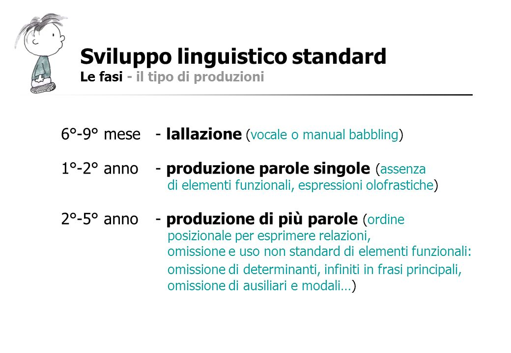 Sviluppo linguistico standard