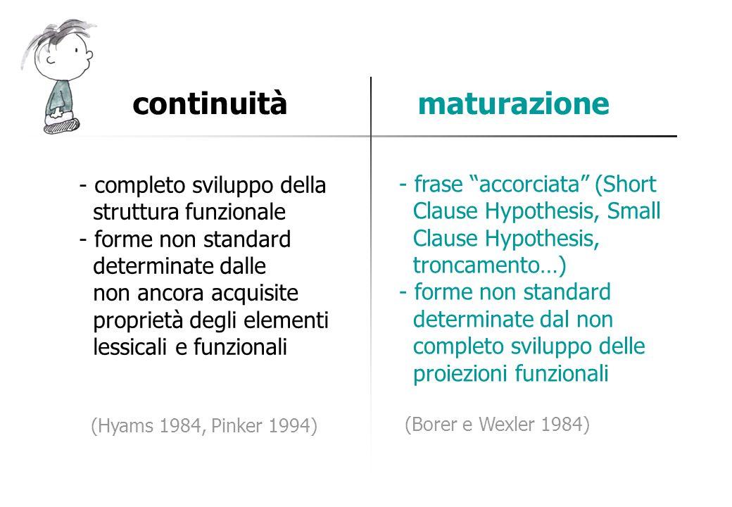 continuità maturazione