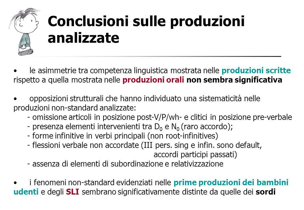 Conclusioni sulle produzioni analizzate