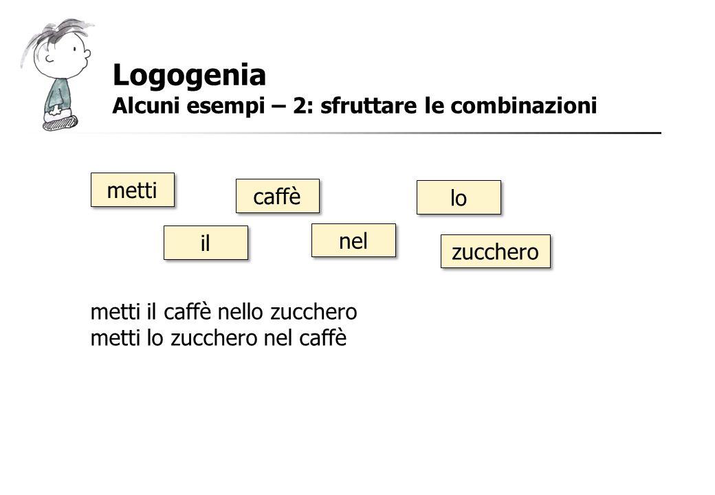 Logogenia Alcuni esempi – 2: sfruttare le combinazioni