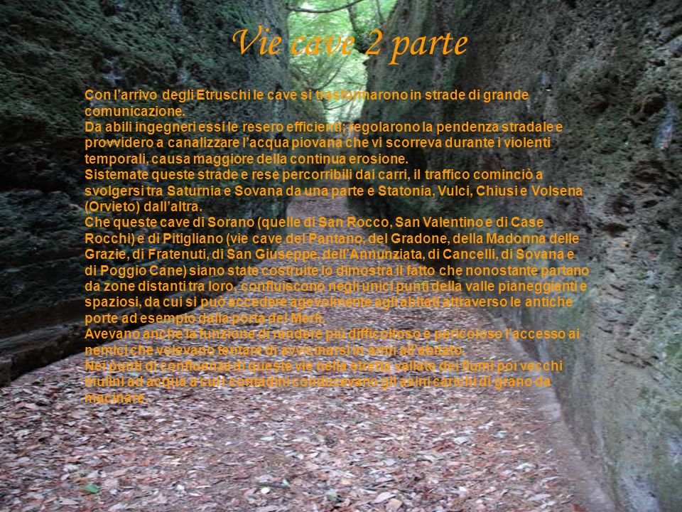 Vie cave 2 parte