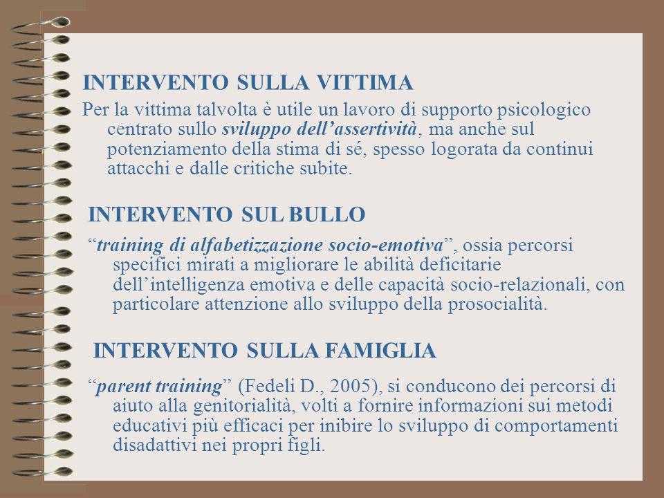 INTERVENTO SULLA VITTIMA
