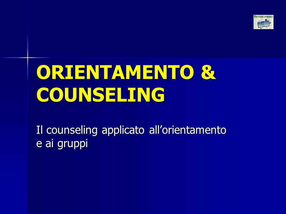 ORIENTAMENTO & COUNSELING