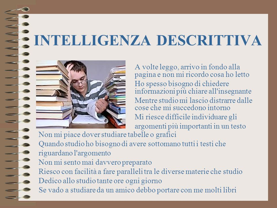 INTELLIGENZA DESCRITTIVA