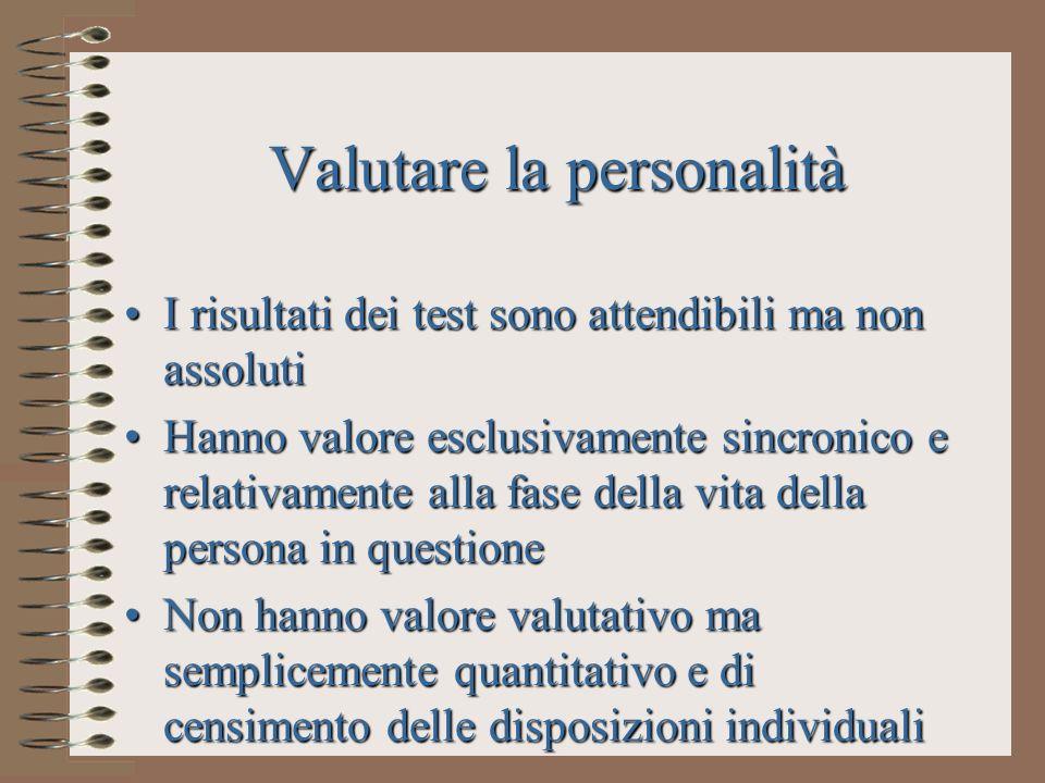 Valutare la personalità