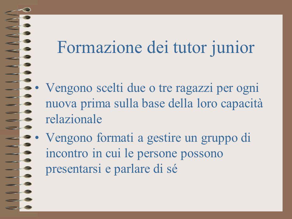 Formazione dei tutor junior
