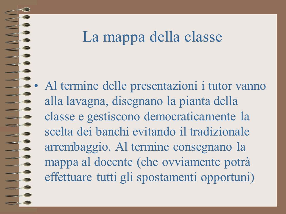 La mappa della classe