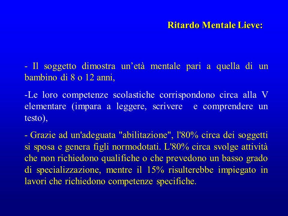 Ritardo Mentale Lieve: