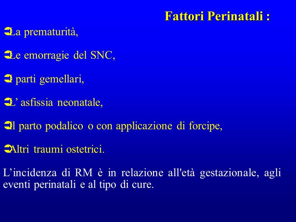 Fattori Perinatali : La prematurità, Le emorragie del SNC,
