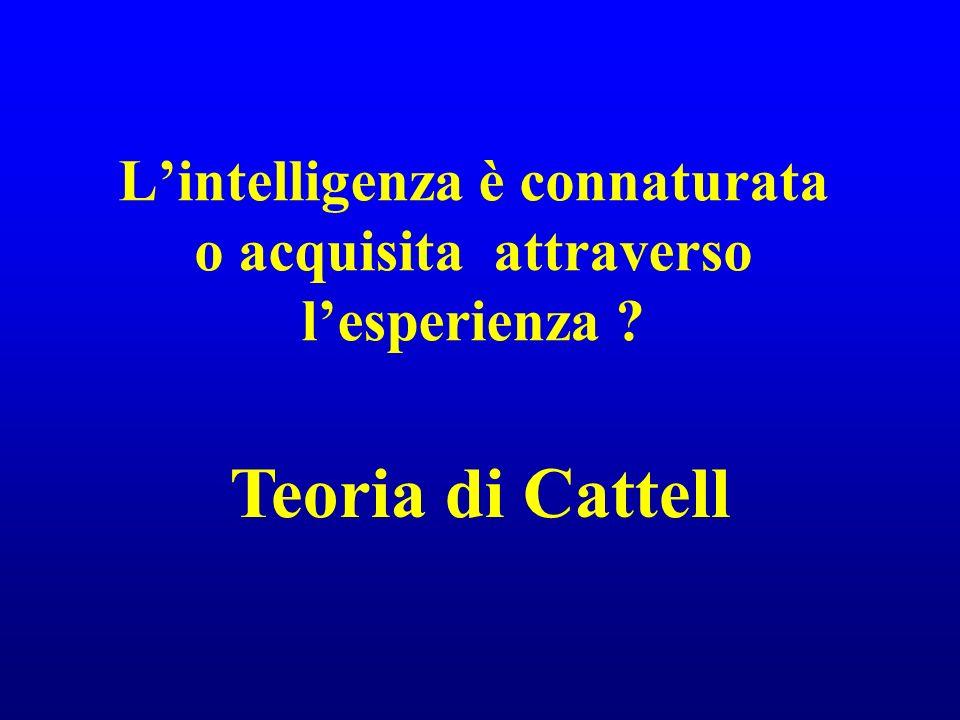 L'intelligenza è connaturata o acquisita attraverso l'esperienza