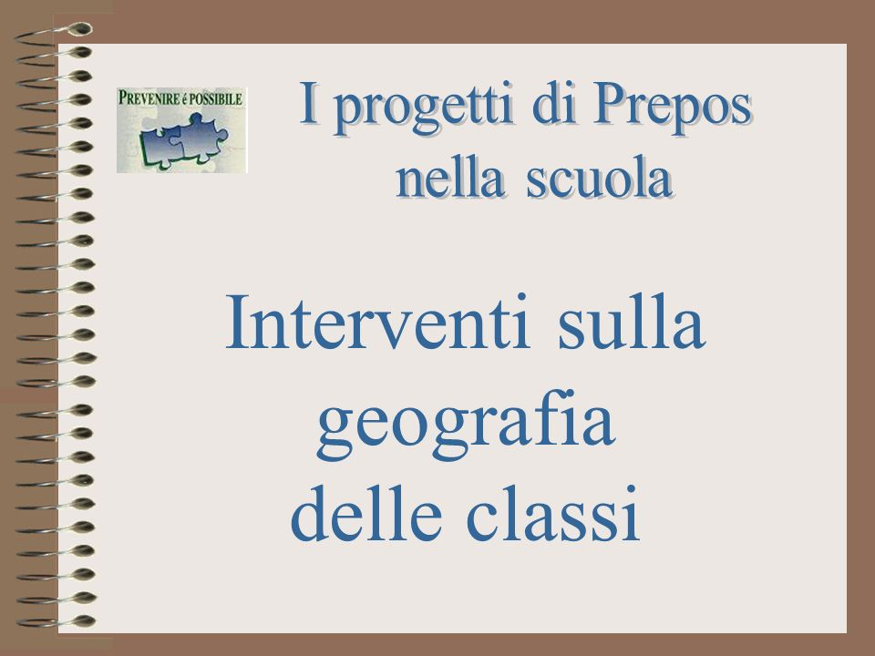 Interventi sulla geografia