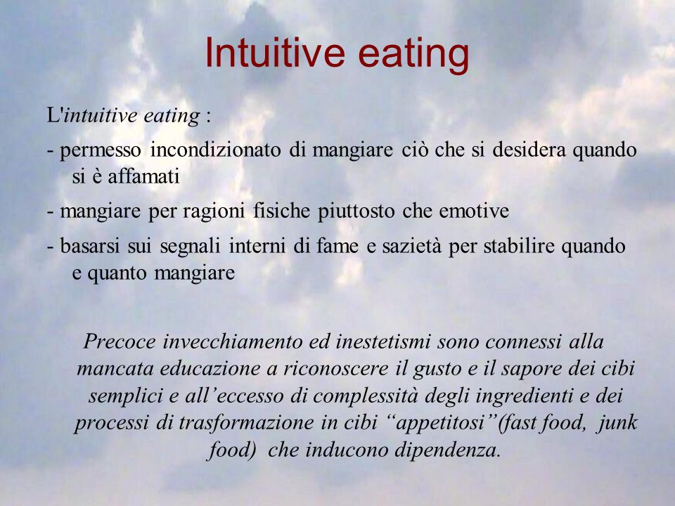 Intuitive eating L intuitive eating :