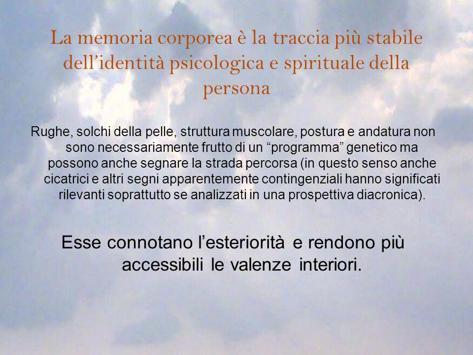 La memoria corporea è la traccia più stabile dell'identità psicologica e spirituale della persona