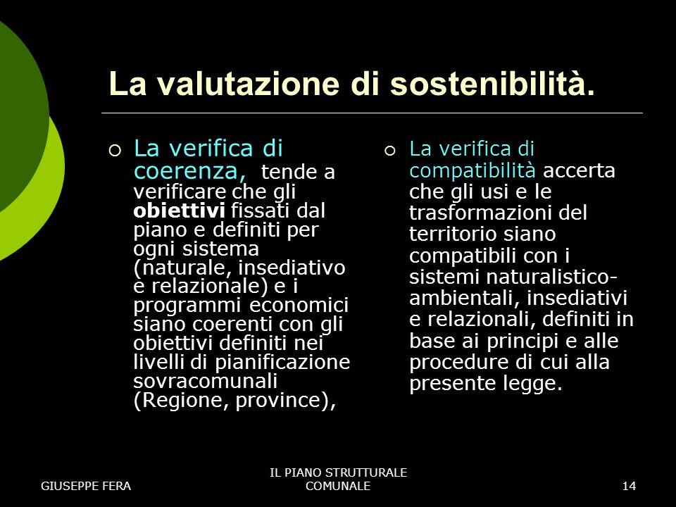 La valutazione di sostenibilità.