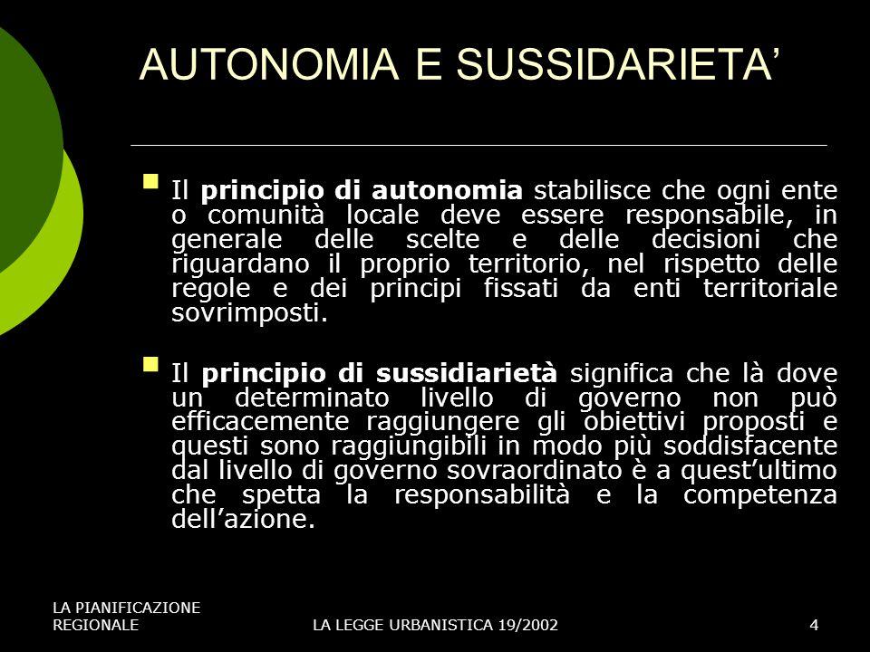 AUTONOMIA E SUSSIDARIETA'