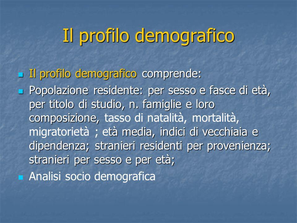 Il profilo demografico