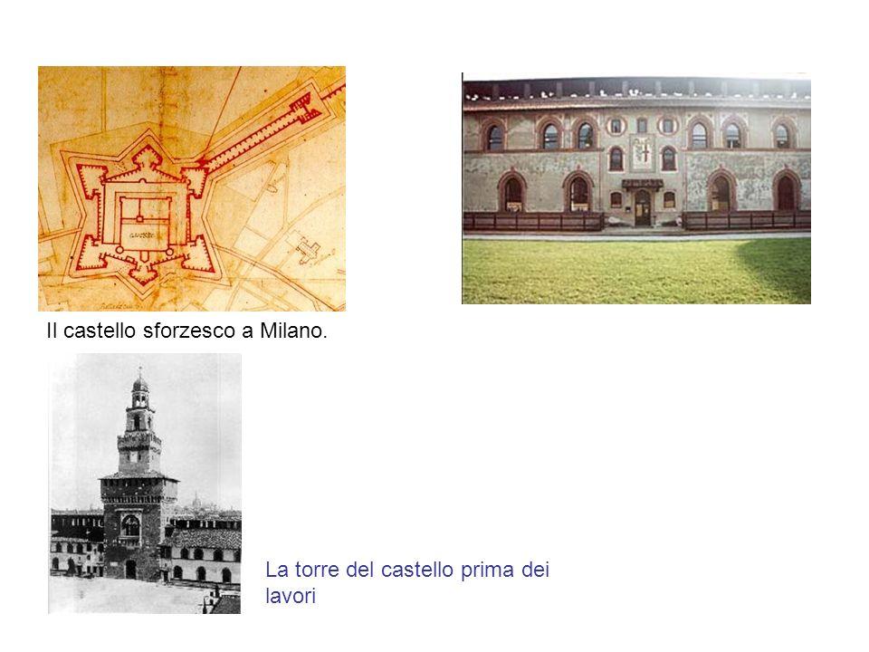 Il castello sforzesco a Milano.