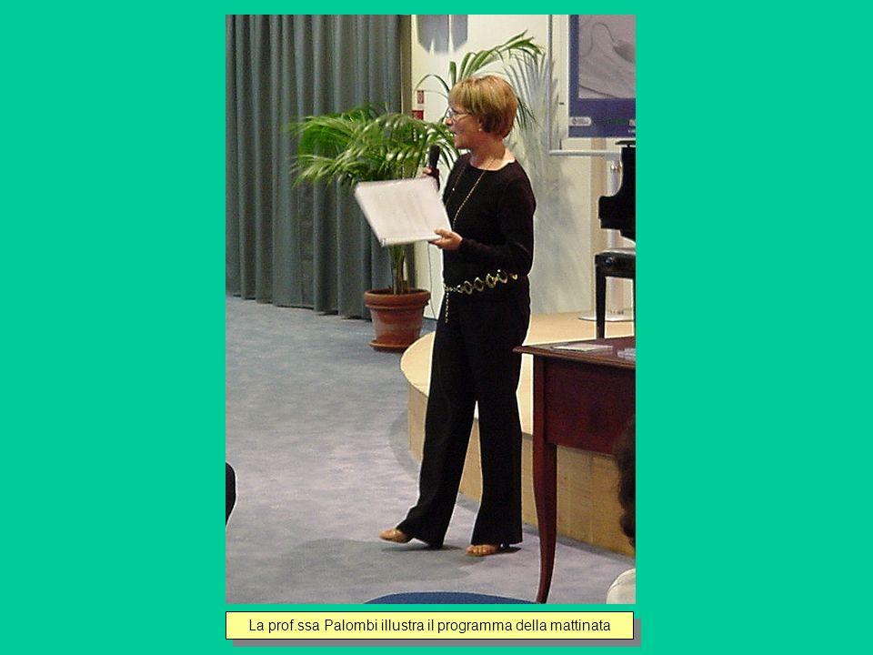 La prof.ssa Palombi illustra il programma della mattinata