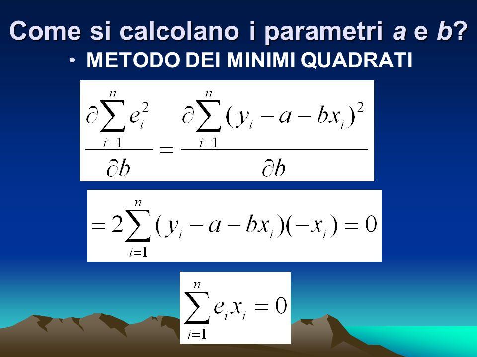Come si calcolano i parametri a e b