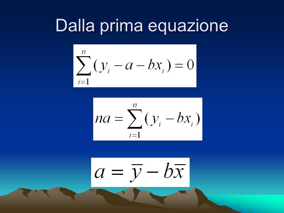 Dalla prima equazione