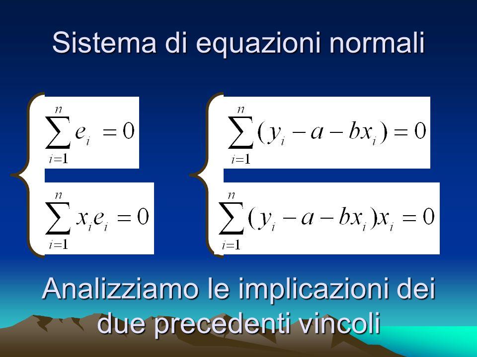 Sistema di equazioni normali
