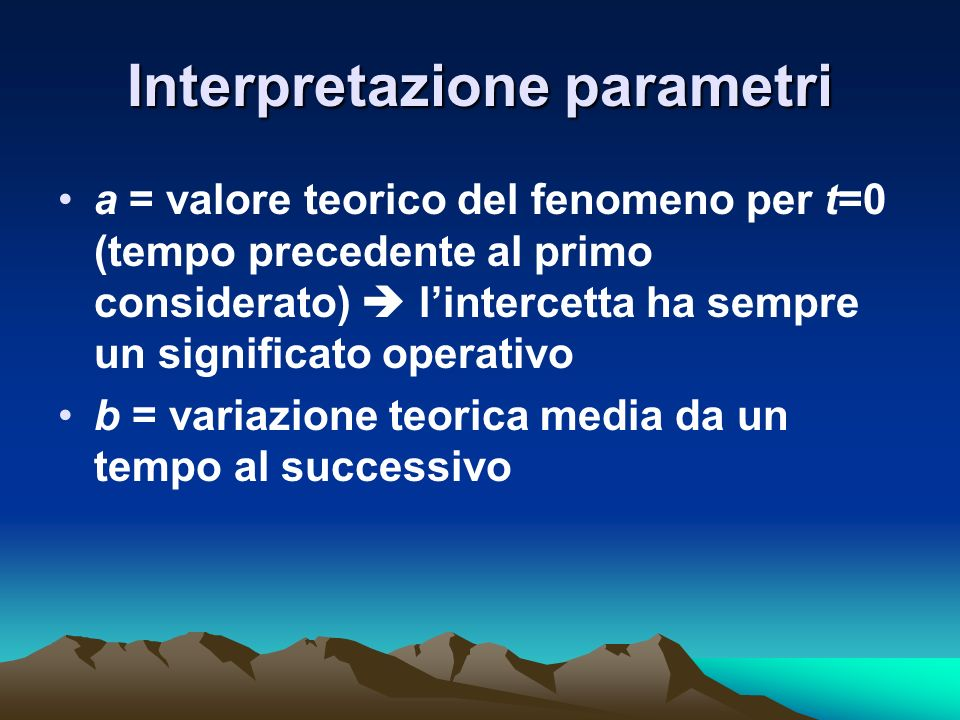 Interpretazione parametri