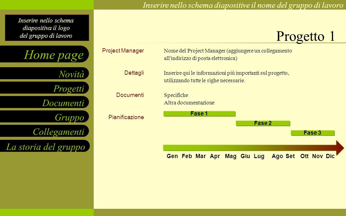 Progetto 1 Project Manager Dettagli Documenti Pianificazione