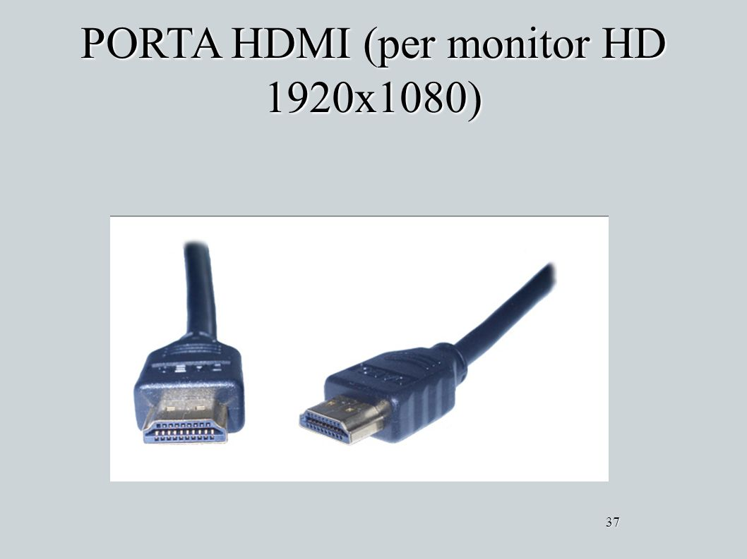 PORTA HDMI (per monitor HD 1920x1080)