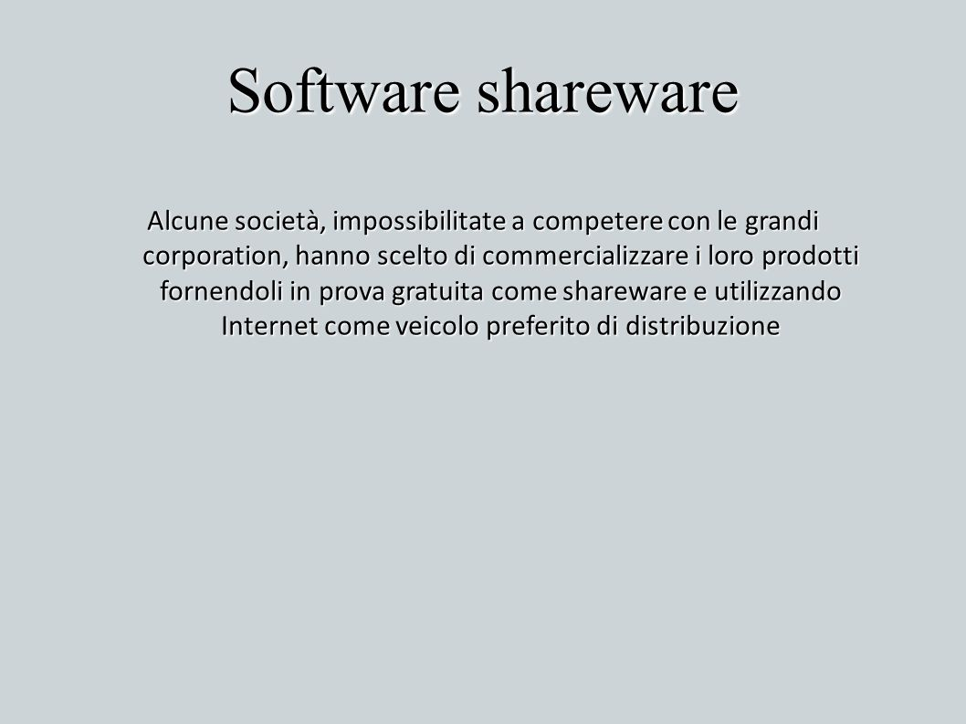 Software shareware