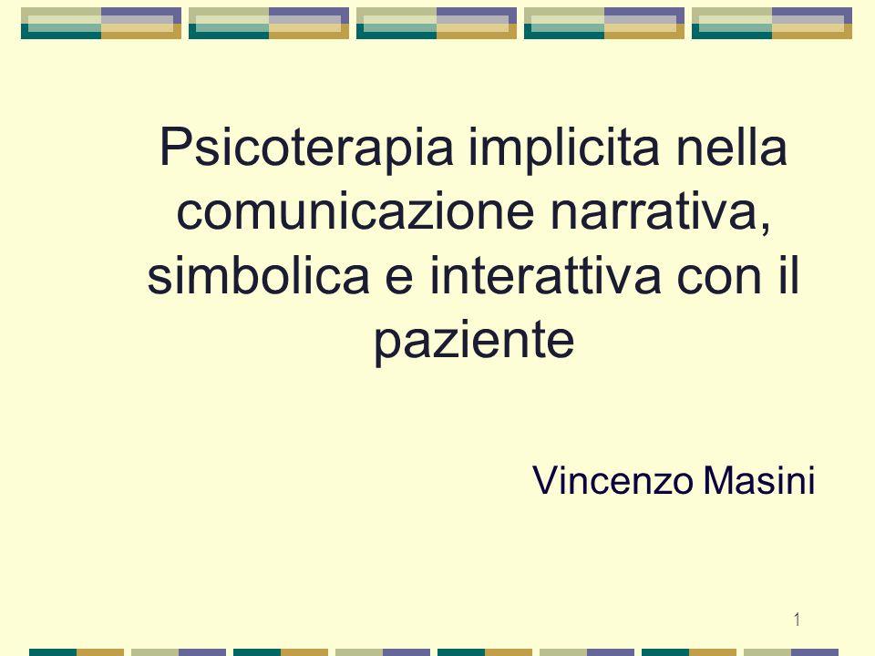 Psicoterapia implicita nella comunicazione narrativa, simbolica e interattiva con il paziente
