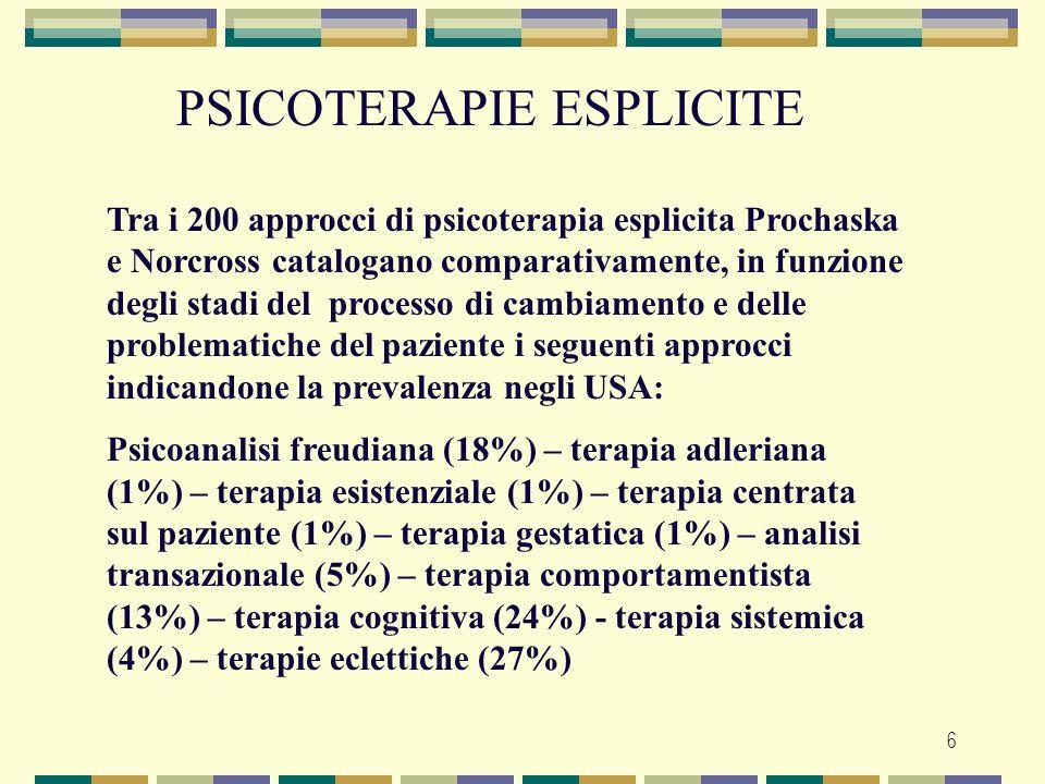 PSICOTERAPIE ESPLICITE