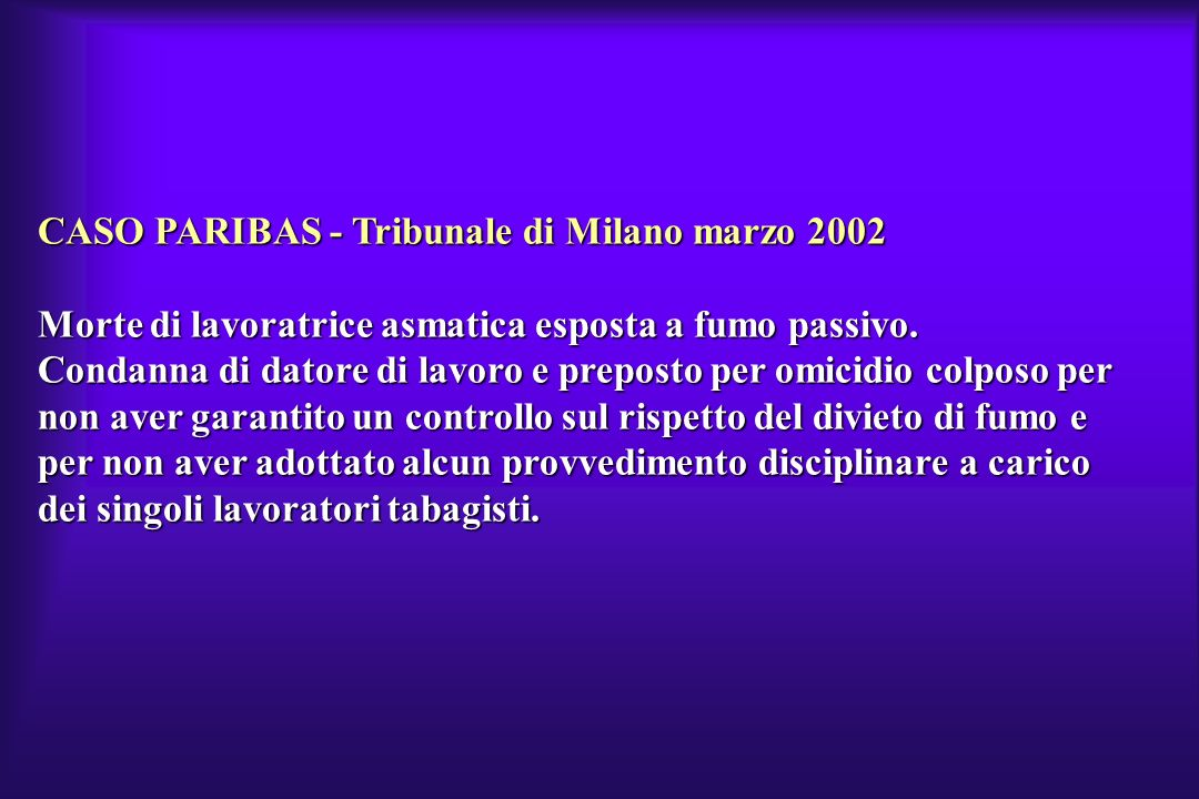 CASO PARIBAS - Tribunale di Milano marzo 2002