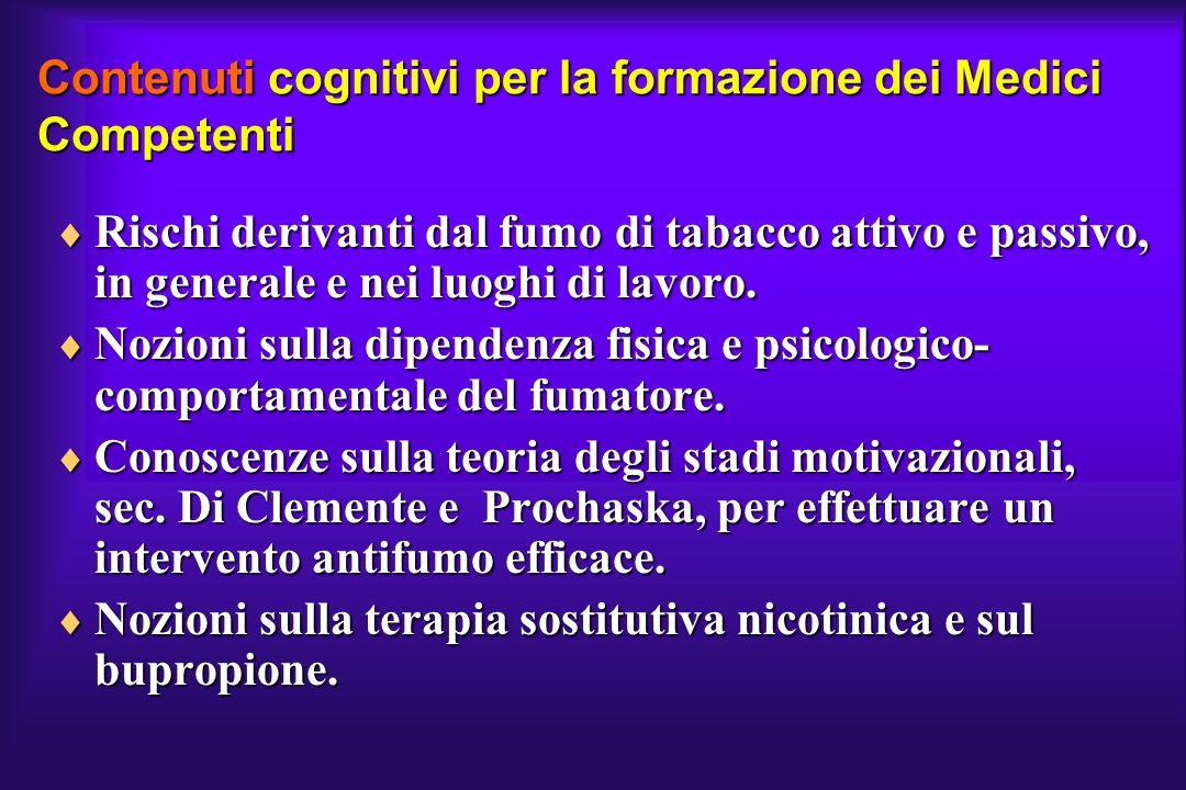 Contenuti cognitivi per la formazione dei Medici Competenti