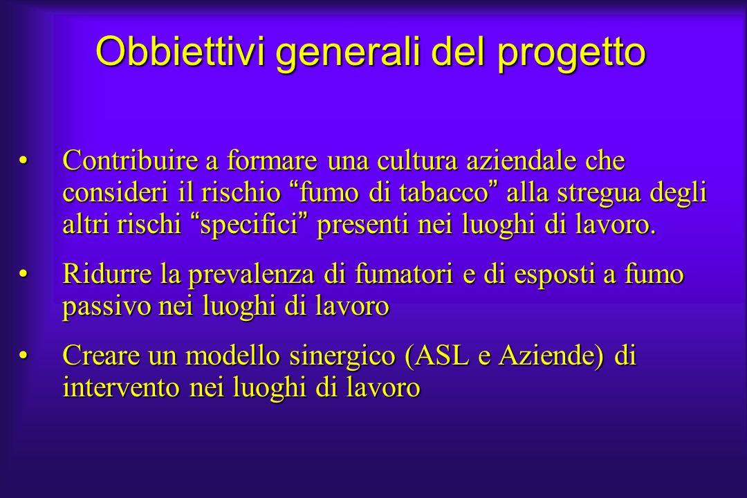 Obbiettivi generali del progetto