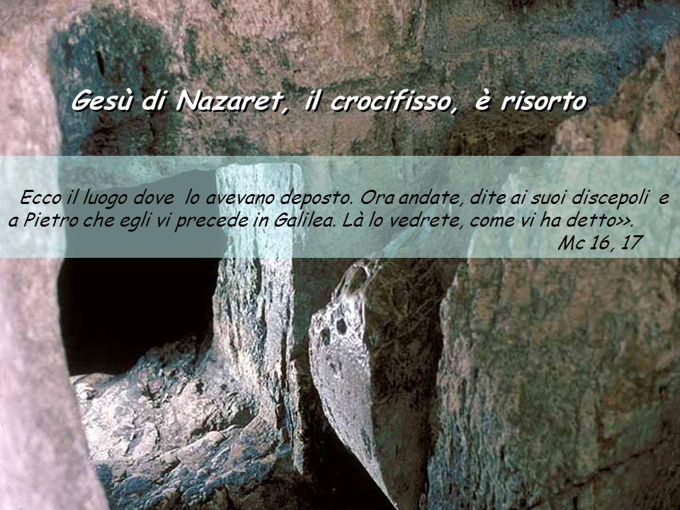 Gesù di Nazaret, il crocifisso, è risorto