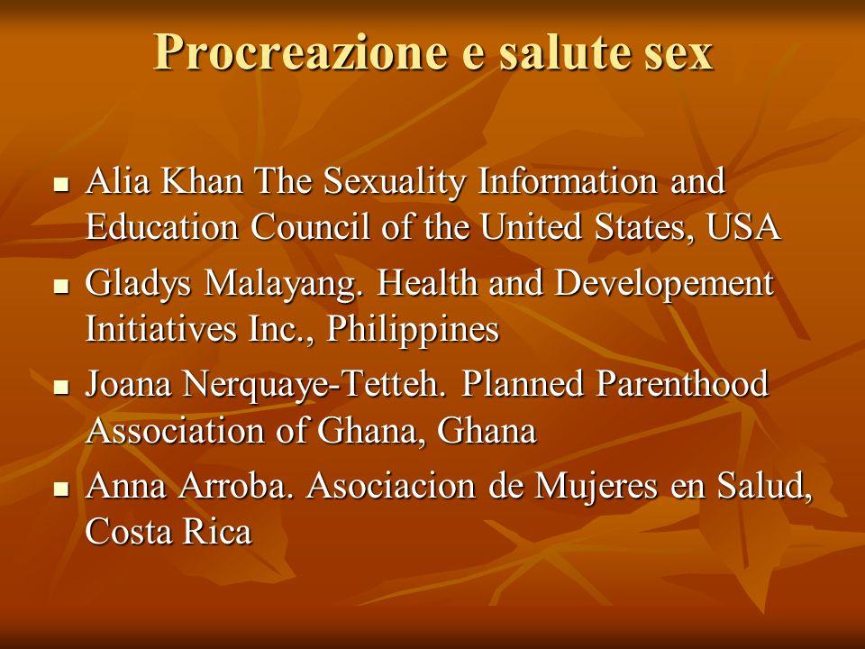 Procreazione e salute sex