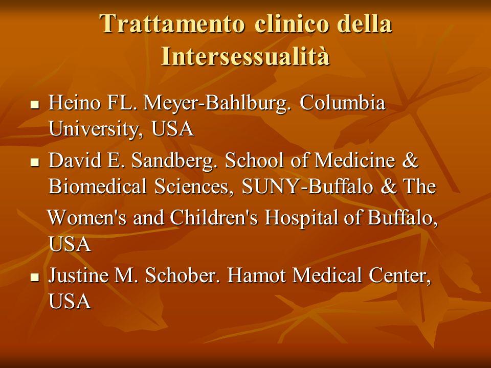 Trattamento clinico della Intersessualità