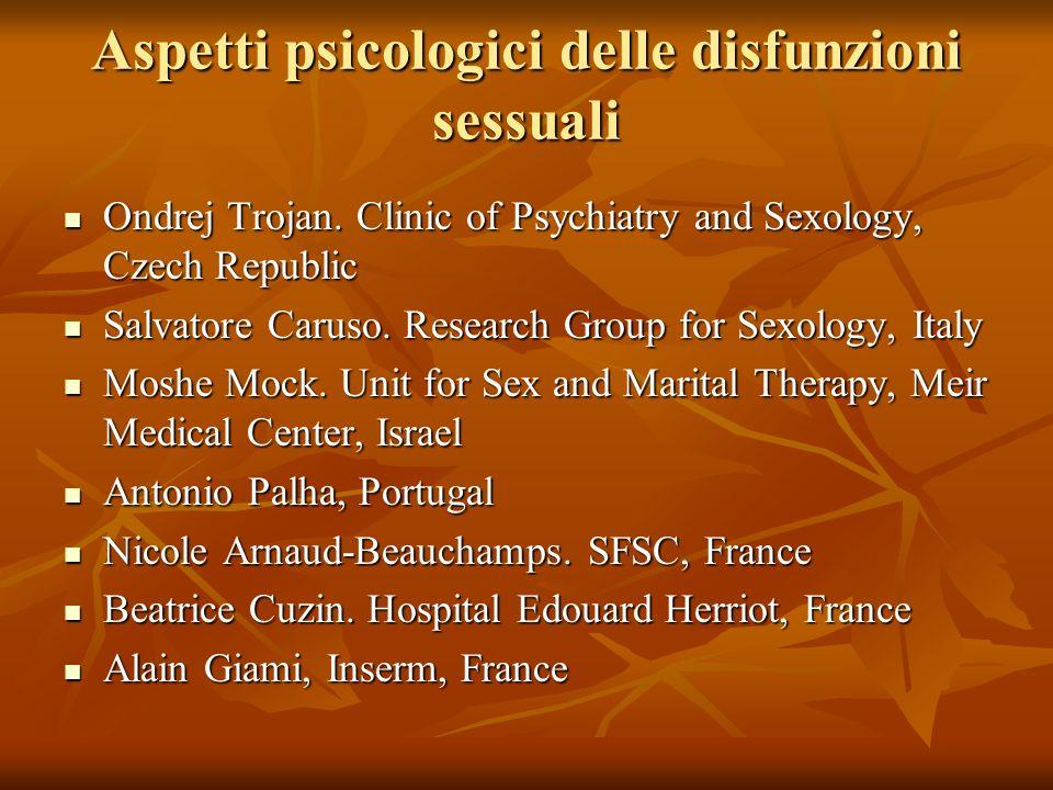 Aspetti psicologici delle disfunzioni sessuali