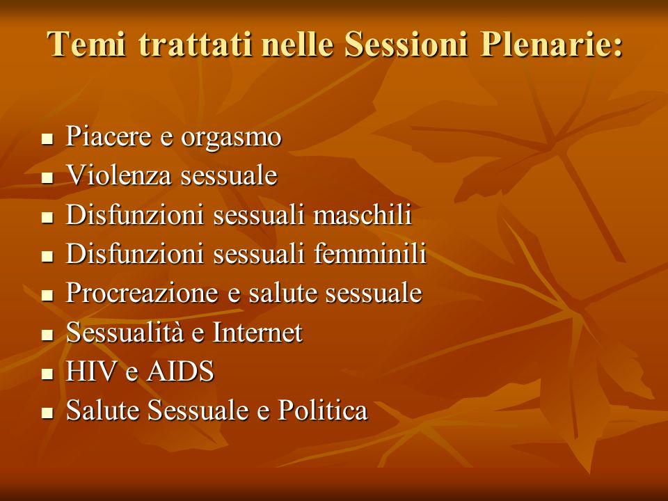 Temi trattati nelle Sessioni Plenarie: